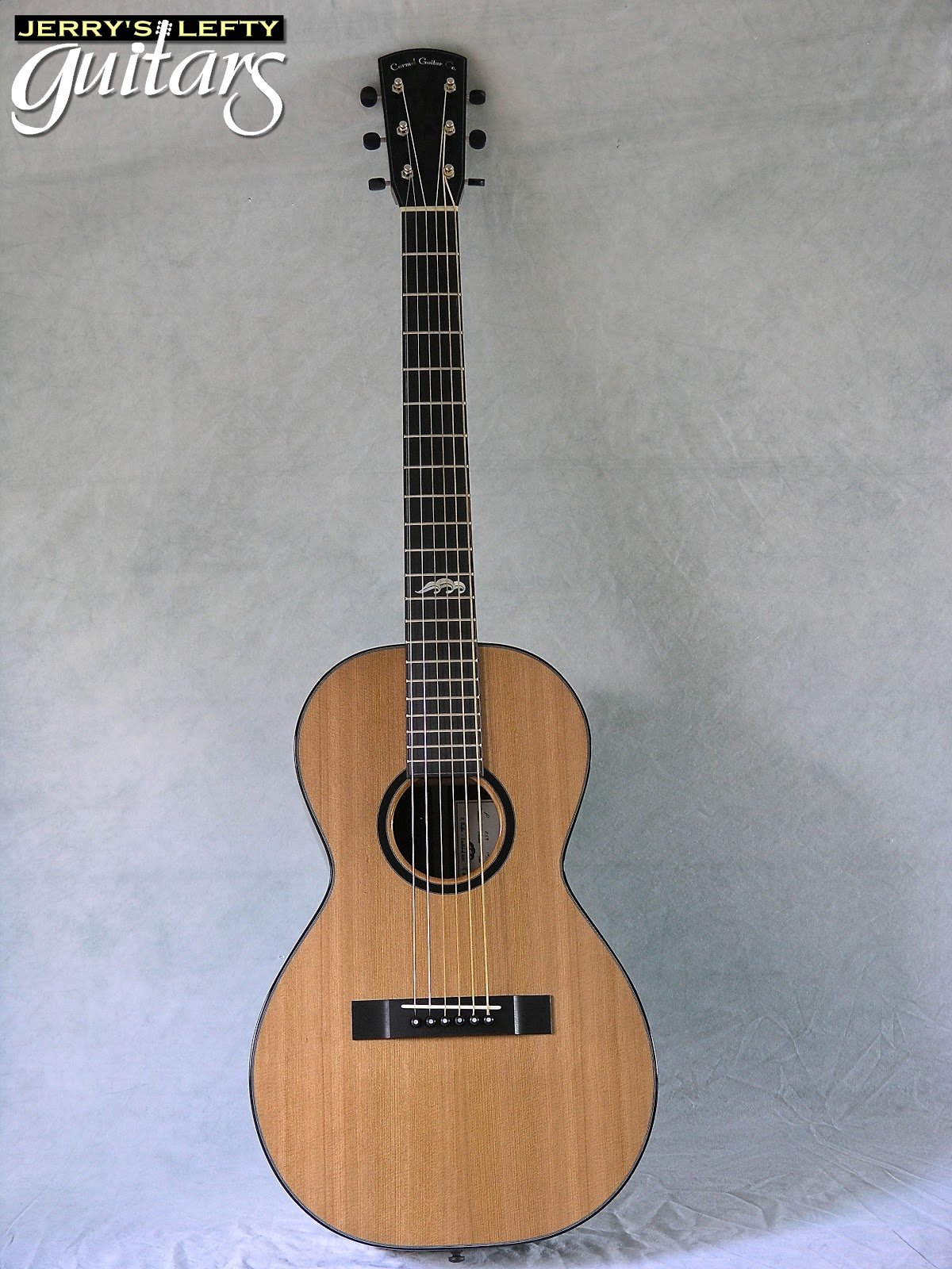 jerry 39 s lefty guitars newest guitar arrivals updated weekly carmel guitar company parlor left. Black Bedroom Furniture Sets. Home Design Ideas