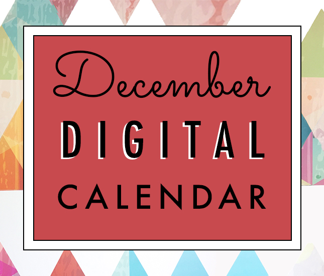 digital calendar for december