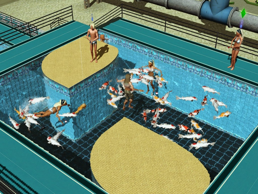 My sims 3 blog fish in pools fountains by icarus allsorts for Pool design sims 3