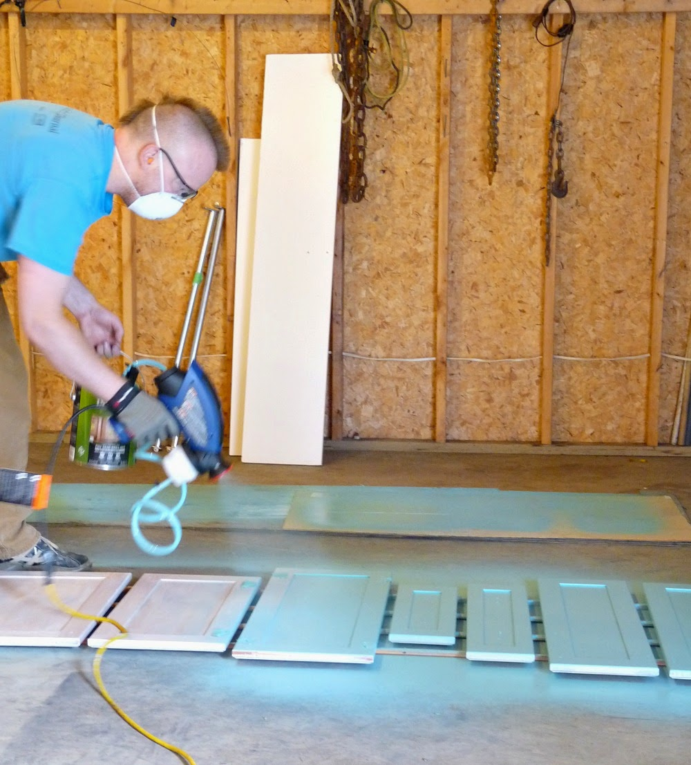 Painting Cabinets with Paint Sprayer