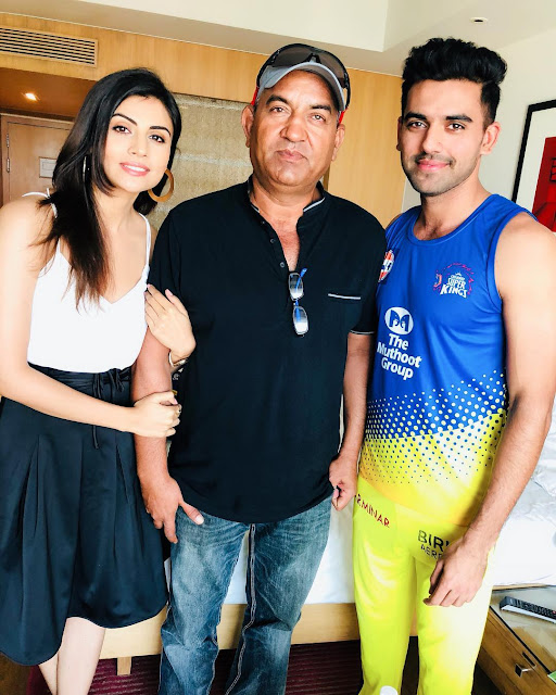 Deepak with Sister and Father