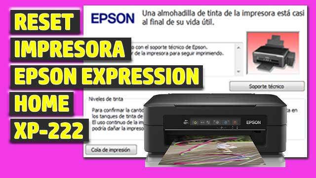 Reset impresora EPSON Expression Home XP-222