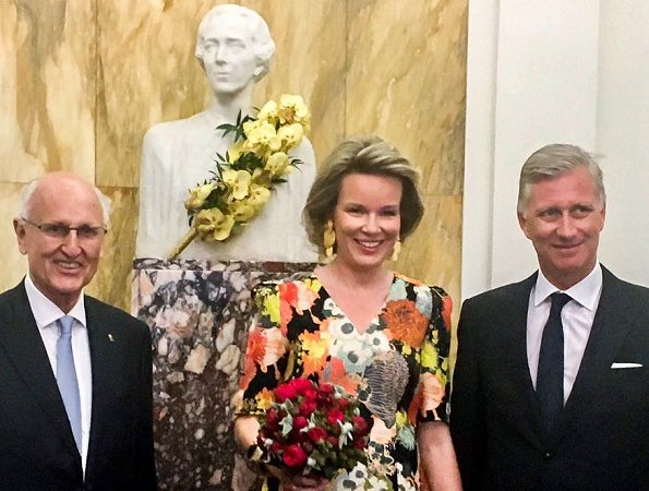 Queen Mathilde and King Philippe of Belgium attended the first session of the finals of the Queen Elisabeth Cello Competition 2017