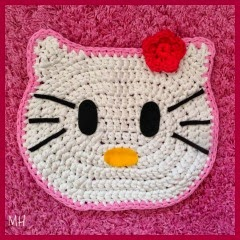 ALFOMBRA KITTY A CROCHET