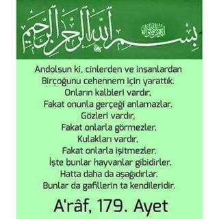 Araf Sûresi 179. Ayetini Açıklarmisiniz