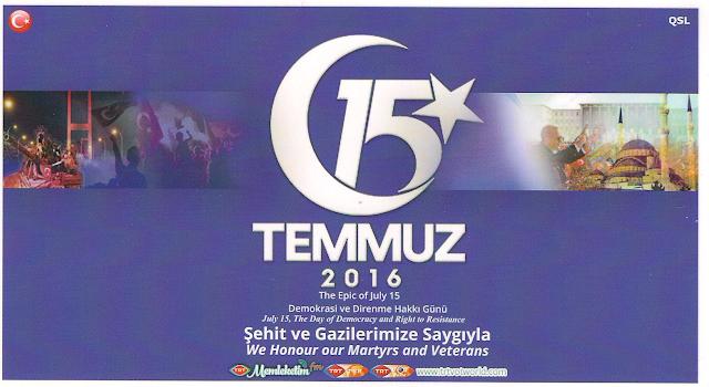 Voice of Turkey QSL card