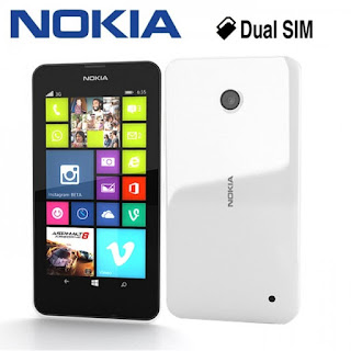Lumia 630 with box front and back