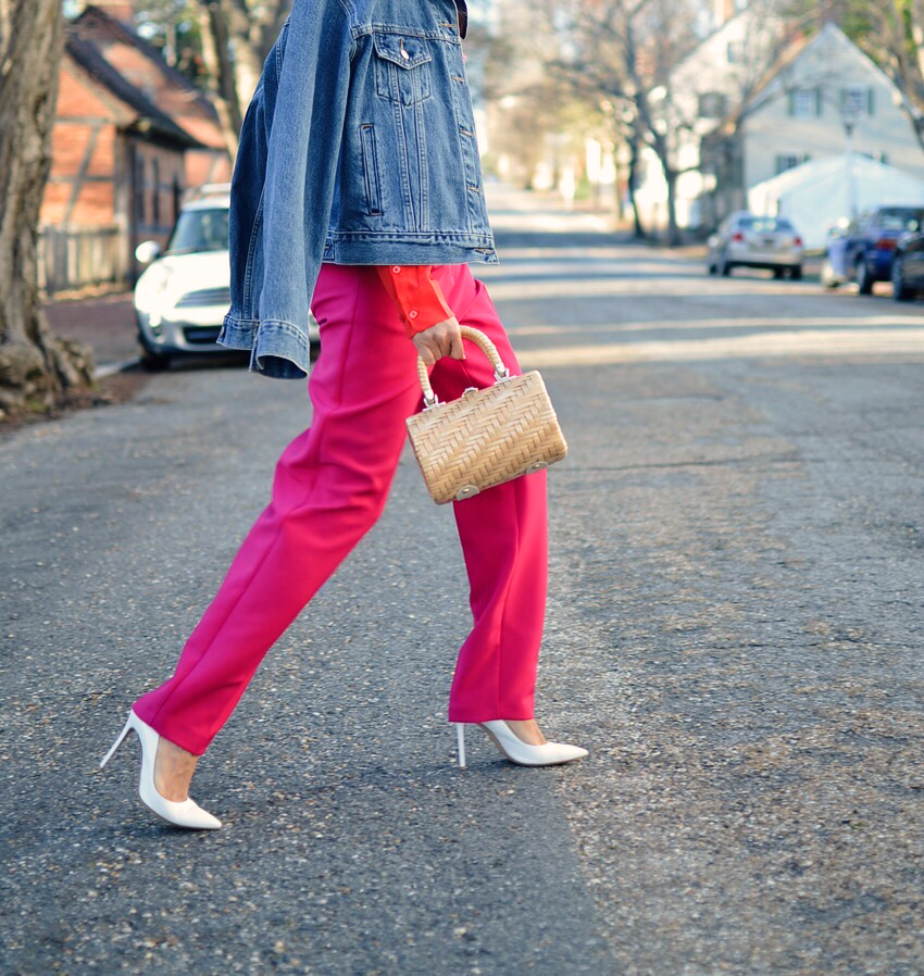 Pink with red street style