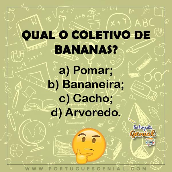 Coletivo de bananas - Qual o coletivo de?
