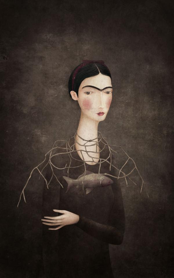 Frida | Gabriel Pacheco 1973 - pintor surrealista mexicano Visionary - Tutt'Art @