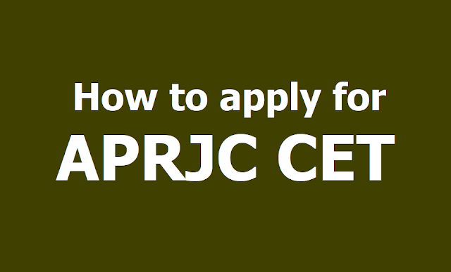 How to apply for APRJC CET 2019, Submit Online application form till April 14
