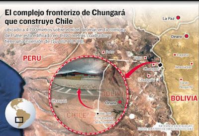 Chile instala complejo fronterizo cerca a Bolivia