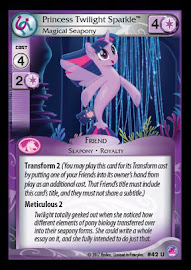 My Little Pony Princess Twilight Sparkle, Magical Seapony Seaquestria and Beyond CCG Card
