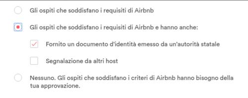 prenotazione immediata airbnb