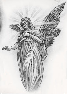 тату надпись ангел фото
