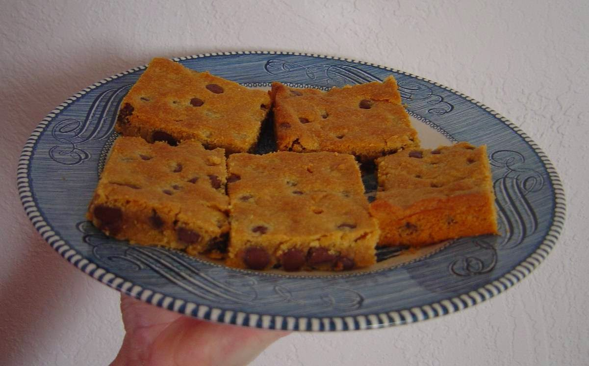 My Coffee-Almond Bars on a Plate Image