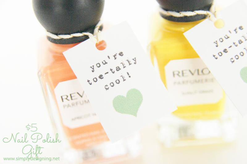Toe-tally Cool Nail Polish Gift Idea with Free Printable | #printable #nailpolish #gift #giftsforher