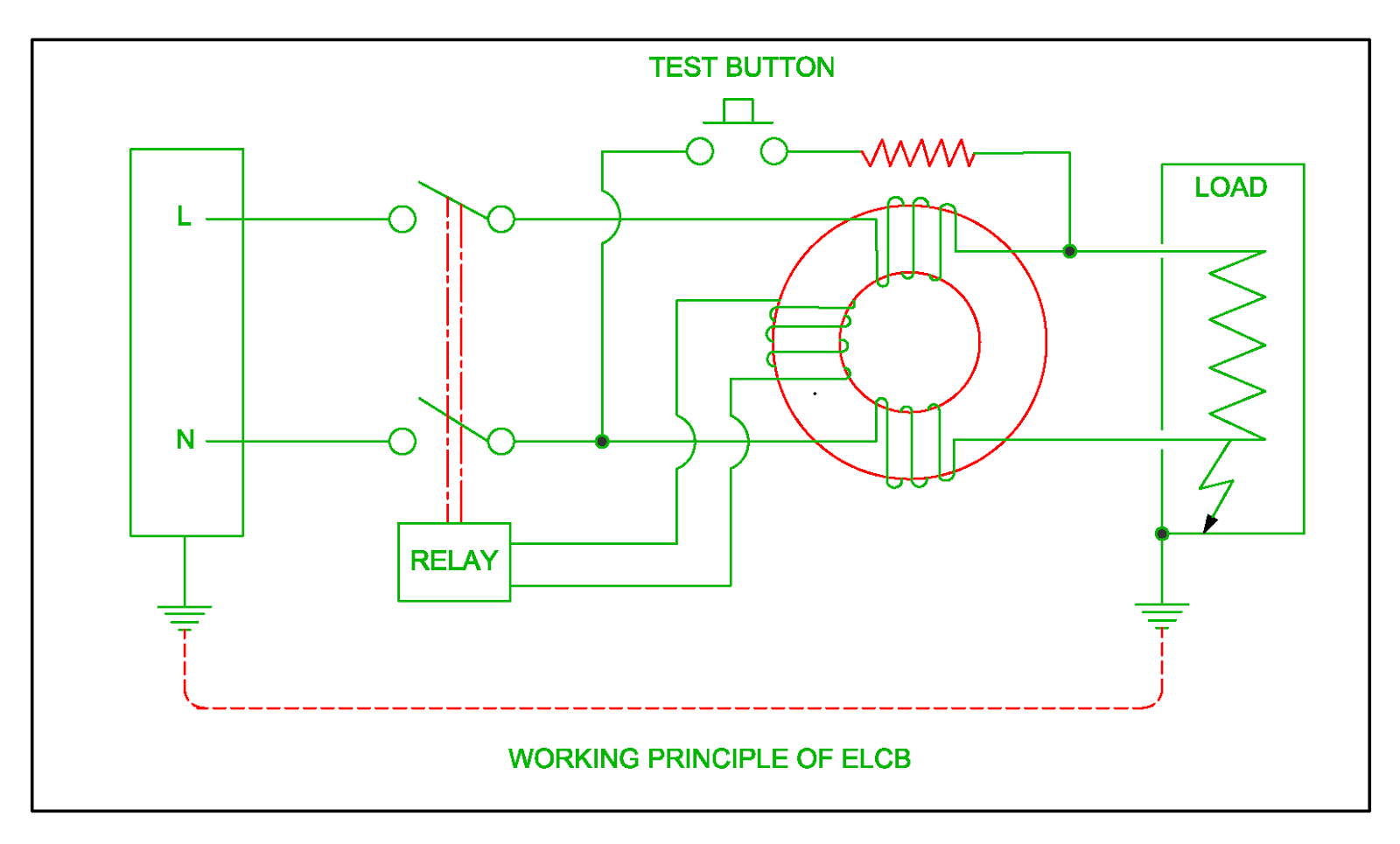 How To Home Elcb Wiring Diagram Les Paul Traditional 2010 Or Working Of Residual Circuit Breaker Rcb