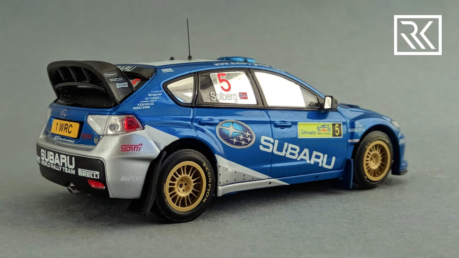 Photo of IXO RAM329 Subaru Impreza S14 WRC, Rally Acropolis 2008