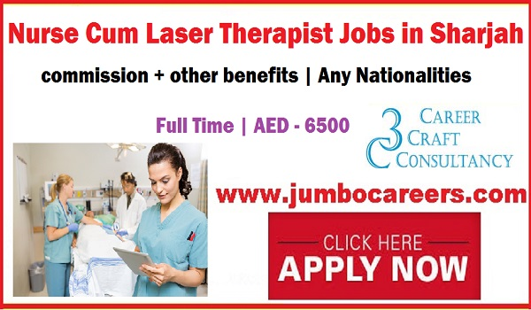Nurse Cum Laser Therapist Jobs in Sharjah with Salary AED 6500