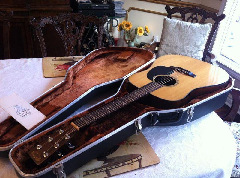 canadian vintage guitar hunt 1978 martin d 18 acoustic. Black Bedroom Furniture Sets. Home Design Ideas