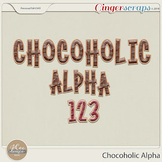 Creative Team, Annemarie, for GingerScraps - Chocoholic Kit by JoCee Designs and Coordinating Freebie