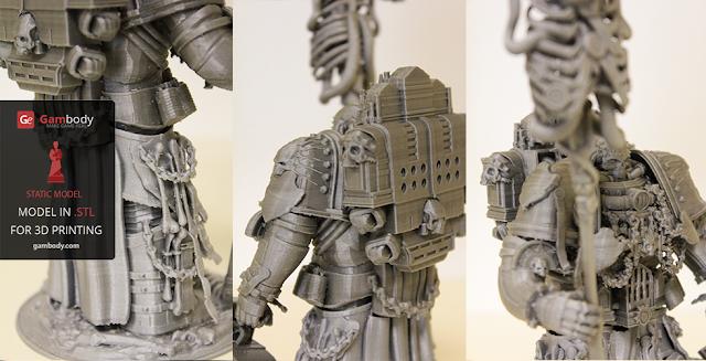 3D printable Chaplain Warhammer40k