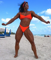 Female bodybuilding in short it is a muscular bomb
