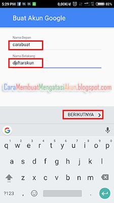 buat akun google baru lewat hp