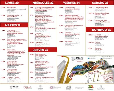 programa festival de jazz xalapa 2017