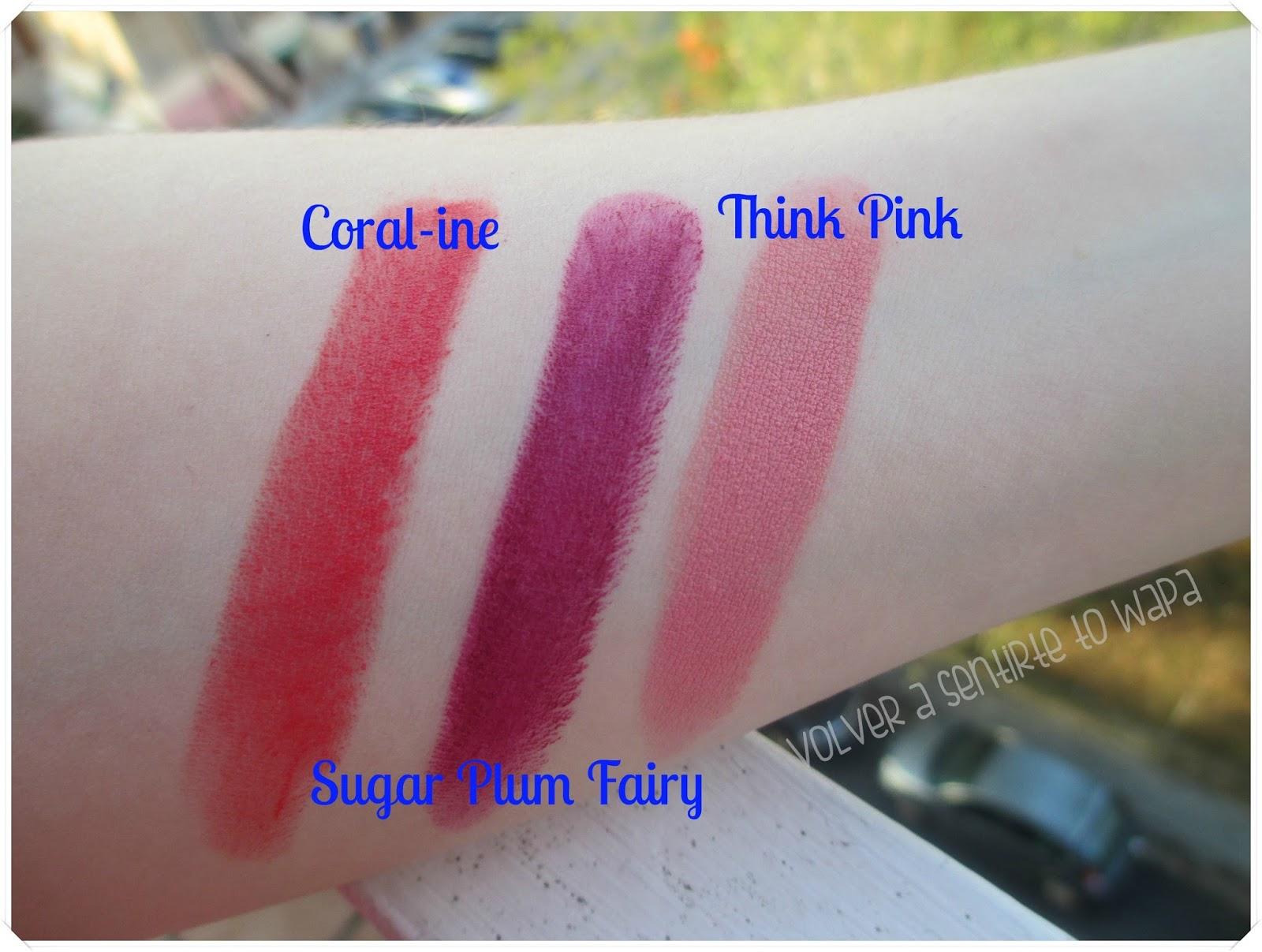 Labiales MegaLast Lip Color de Wet n' Wild - Swatches