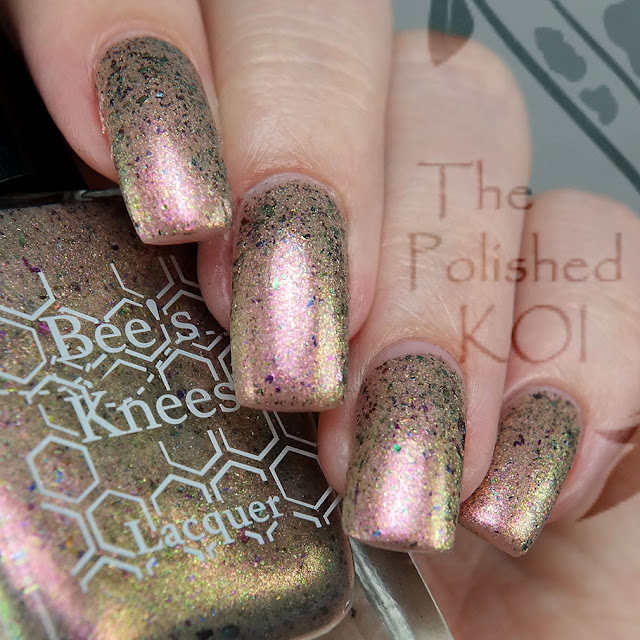 Bee's Knees Lacquer Sparkle on Her Face