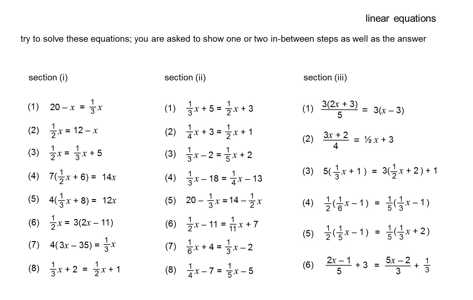 Median Don Steward Mathematics Teaching Harder Linear
