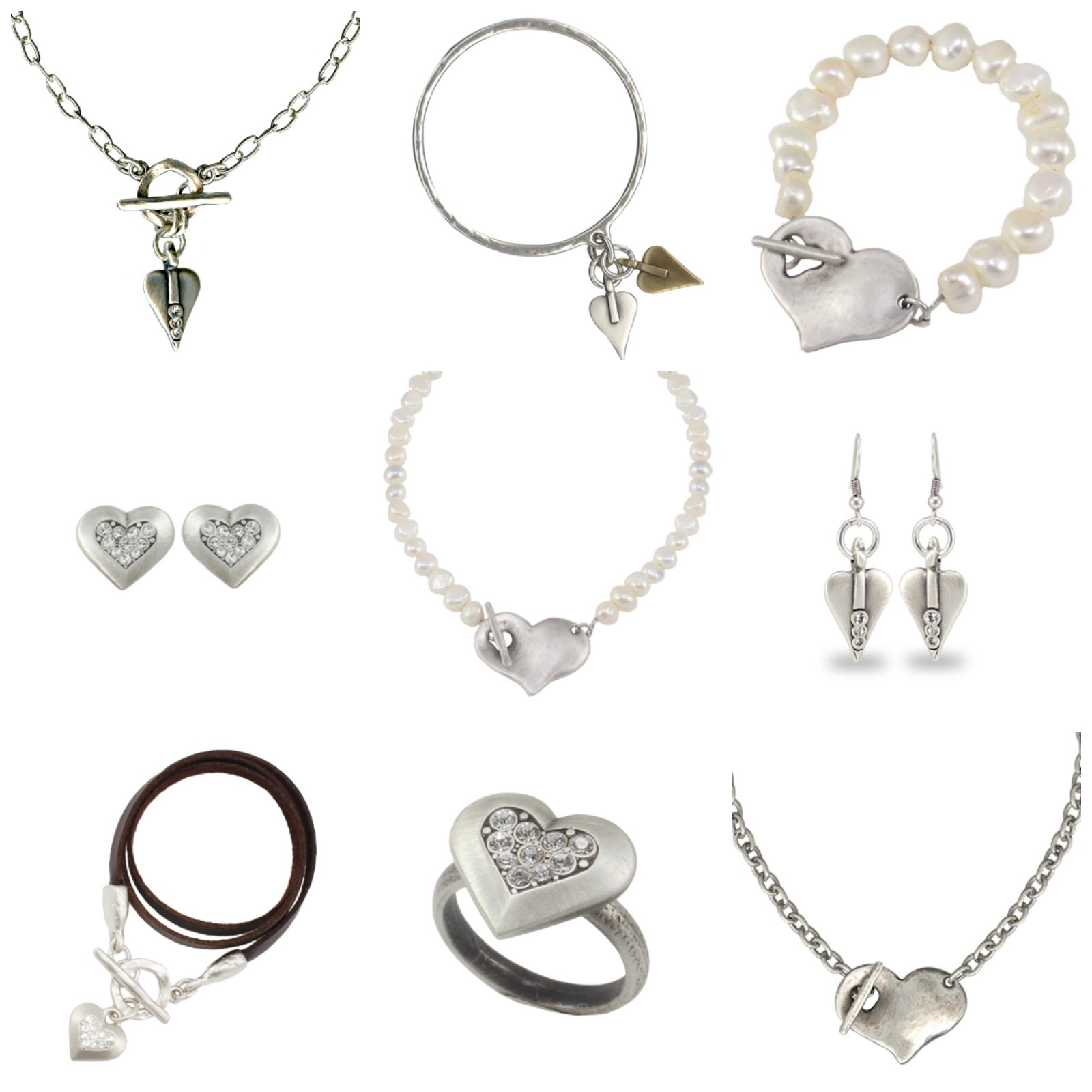 Danon heart jewellery Valentines at Lizzy O