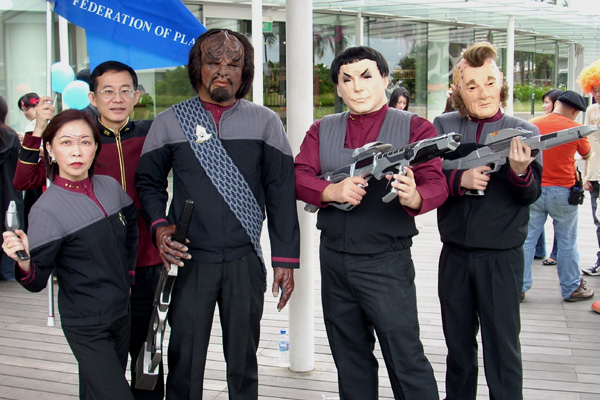 Worf costume play from Star Trek