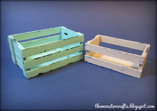 Shabby chic doll crate for Barbie