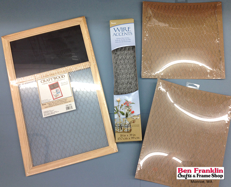 Ben Franklin Crafts and Frame Shop, Monroe, WA: Chicken Wire Crafts