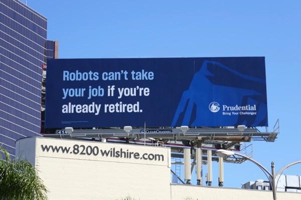 Robots retired Prudential billboard