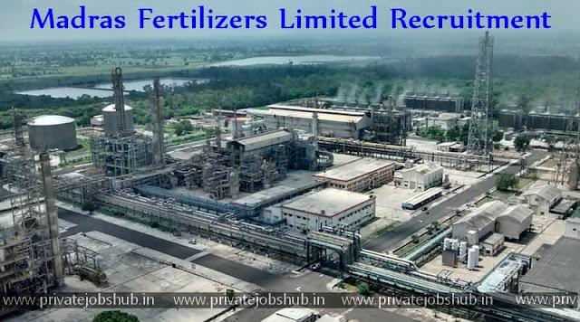 Madras Fertilizers Limited Recruitment