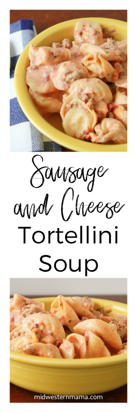 Sausage and Cheese Tortellini Soup in the Crockpot!