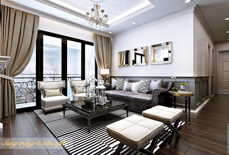 Phòng khách căn hộ chung cư Imperia Eden Park Mễ Trì