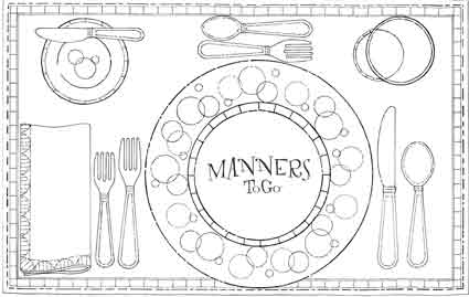Expat in the city article eating implements spoon for Manners coloring pages