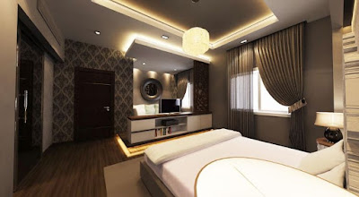 modern indirect ceiling lighting for bedroom design
