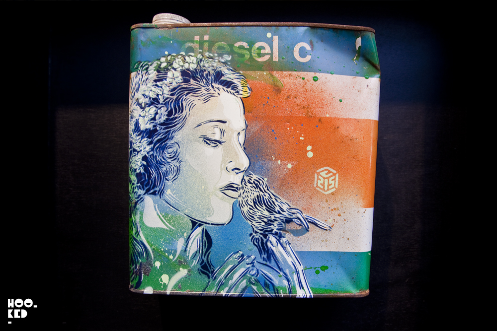 C215 - UK Street Art Exhibition Back to Black at Stolen Space Gallery