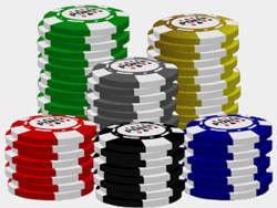 Poker chip stack graphics