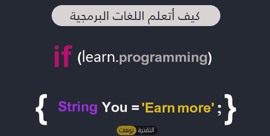 كيف أتعلم اللغات البرمجية وأبدا في الربح منها ؟