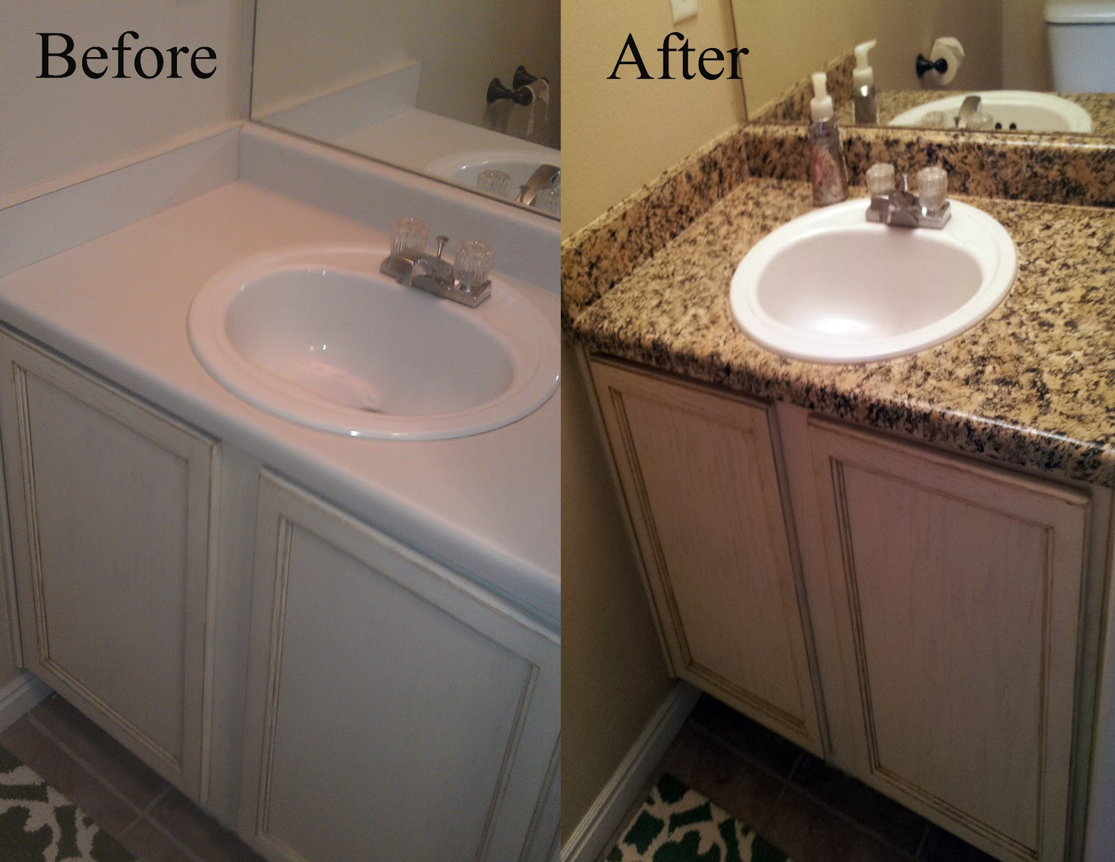painting bathroom countertops and sink delleydew painted faux granite countertop 23934
