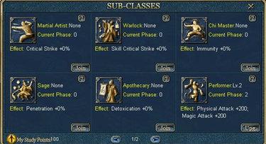 Conquer Online Sub Classes