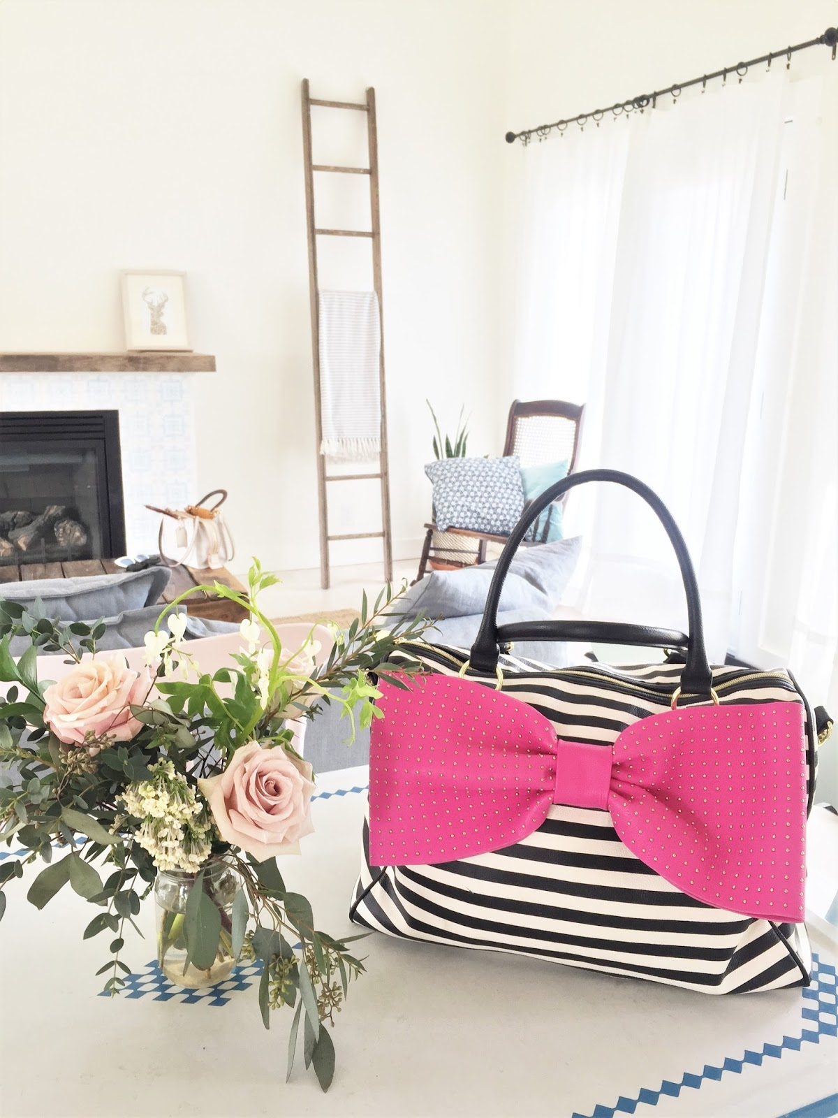 Bijuleni - Fresh Blooms from The Coriander Girl and Weekender Bow Bag by Betsey Johnson