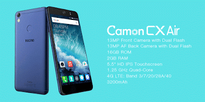 Tecno Camon CX Air Full Specifications, Features And Price
